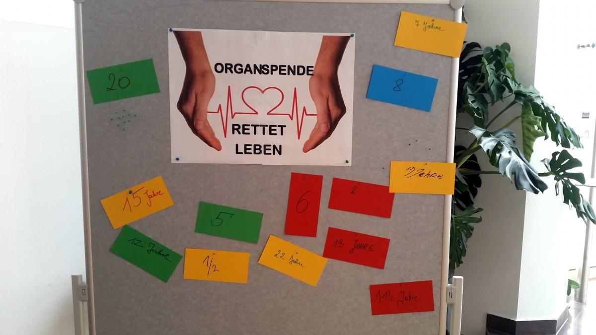 Dankandacht Selbsthilfegruppe ORGAN Transplantierte, Wartende und Angehörige