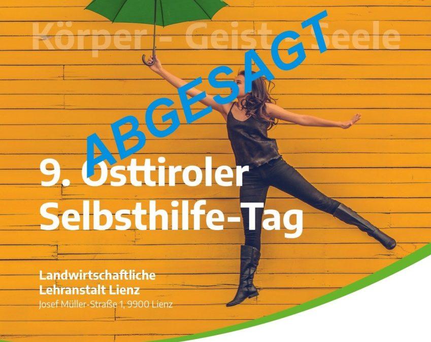 Absage: 9. Osttiroler Selbsthilfetag 28. März 2020